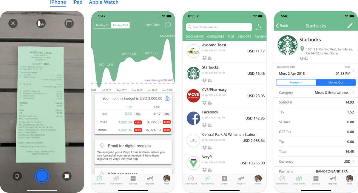 Veryfi A Bookkeeper In Your Pocket Track Business Expenses - Software to create invoices free download starbucks online store